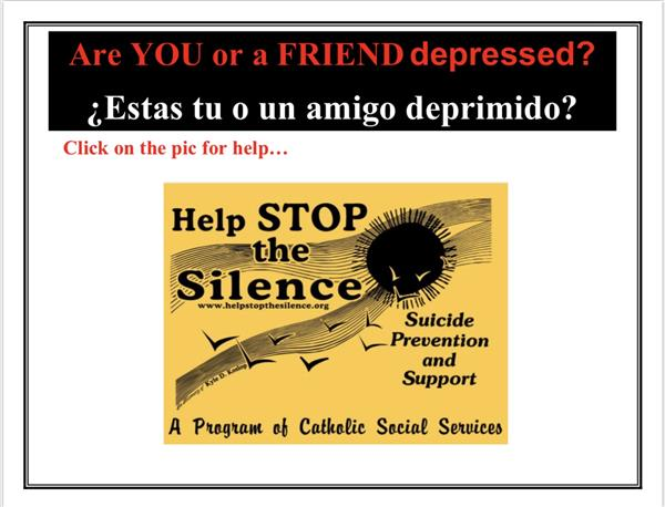 *Click Here Help STOP the Silence