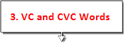 vc and CVC Words