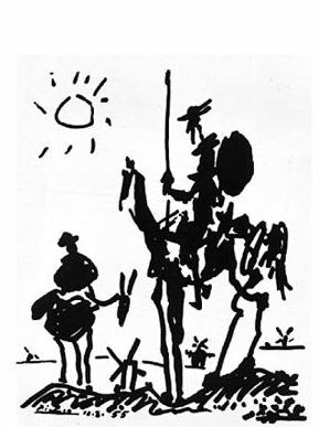 Don Quijote by Picasso