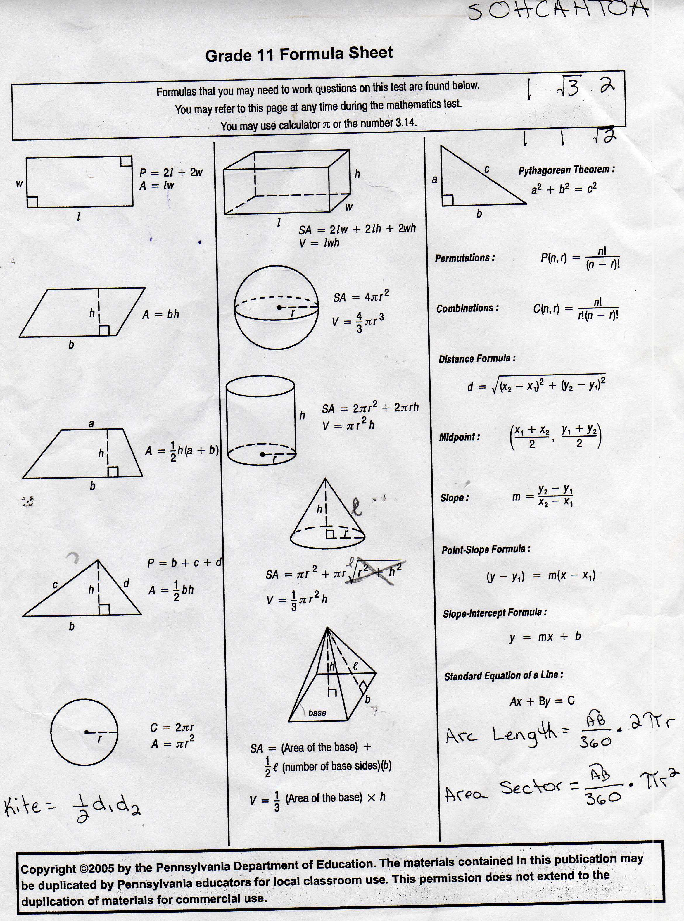 Ulshafer K Honors Geometry – High School Geometry Worksheets