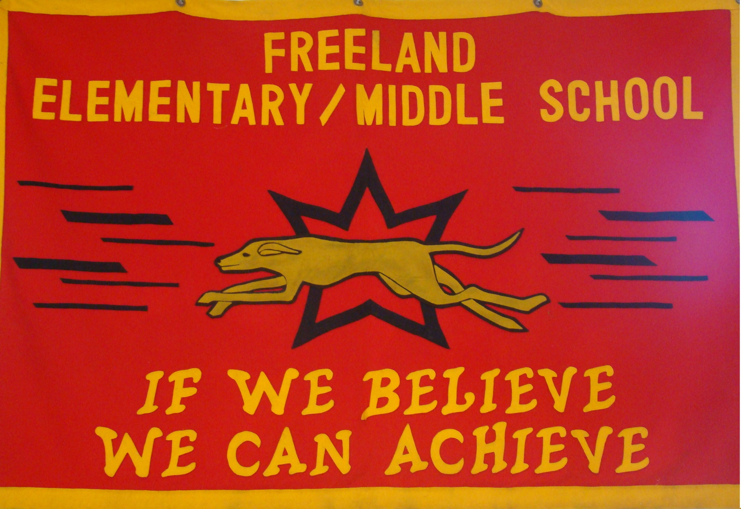 Freeland Elementary Middle School Banner