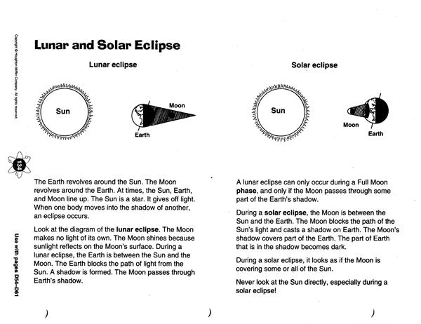 Lunar Eclipse Worksheet - Khayav